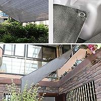 ZX タープ 日焼け止め シェードクロス シェードネット 園芸 覆われた 端 シェードメッシュ サンシェードカバーネット にとって カーポート パーゴラ テント アウトドア (Color : Gray, Size : 2x5m)