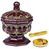 AM Charcoal Incense Burner - Bakhoor Burner, Frankincense Resin Burner - for Office & Home Decor | Luxury Octagon