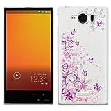 「Breeze-正規品」iPhone ・ スマホケース ポリカーボネイト [透明-Purple] アクオスフォン カバー AQUOS PHONE SERIE mini[SHL24]