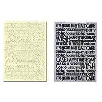 Demiawaking フォルダテンプレート エンボステンプレート プラスチック製 エンボス 加工 ハンドメイド 可愛い フォトアルバム カード作り道具(タイプ2)