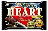 不二家 ハートチョコレート(ピーナッツ)甘さひかえめ袋 15枚×15袋