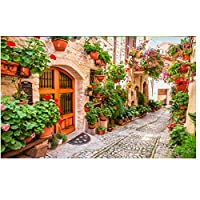通りの風景壁画-3d壁紙カスタム写真不織布ヨーロッパのリビングルームの装飾絵画3d壁壁画壁紙280cm(W)x230cm(H)