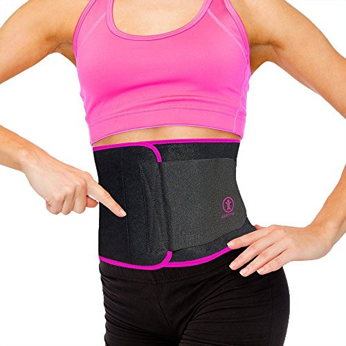 Just Fitter Premium Waist Trainer & Trimmer Ab Belt For Men & Women. More Fully Adjustable Than Other Stomach Slimming Sauna Belts. Provides Best Support For Lower Back & Lumbar. Results Guaranteed.