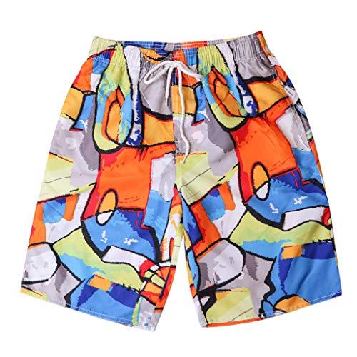 Lovely-Joy Men's Swimwear Clearance,Shorts for Men Running,2019 Men's Shorts Swim Trunks Quick Dry Beach Surfing Running Swimming Watershort Orange