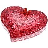 Perfk ソープフラワー 石鹸花  造花 フラワー ギフトボックス  誕生日 母の日 記念日 先生の日 バレンタインデー プレゼント 全4色選べる - 赤