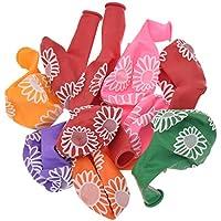 (ライチ) Lychee 10個セット バルーン ゴム風前 ドット ハート 花 アルファベット 向日葵 カラフル 大きい パーティー小物 イベント 装飾 プレゼント