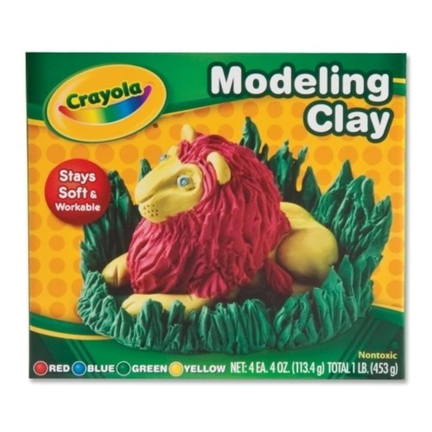 Crayola 57-0300 Assorted Colours Modelling Clay 4 Count