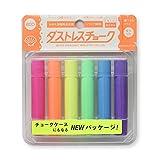 日本理化学工業 ダストレスチョーク 蛍光6色(赤・橙・黄・緑・青・紫) DCK-6-6C