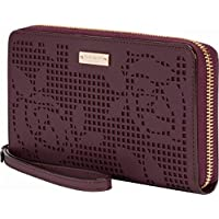 Incipio KSIPH-018-PRMAH Kate Spade New York Zip Wristlet, Perforated Rose Mahogany