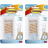 Command Bath22-ES Bath Assorted Water-Resistant Refill Strips, Medium and Large, Blue