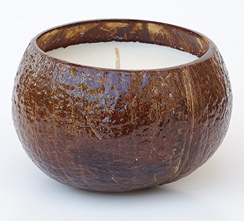 慈悲テニス好意的ハワイアンCandle & Bath – プルメリア香りつきSoy Candle in Realココナッツシェル、16オンス、ハンド、Made in USA