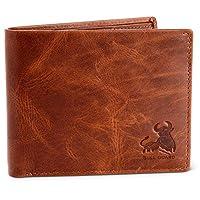 Bull Guard RFID Blocking Bifold Wallet For Men Soft Genuine Vintage Leather