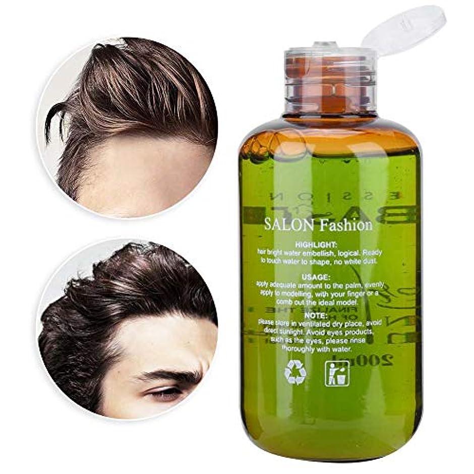 テザーシルエット処方するヘアスタイリングのための男性の理髪ジェル長続きがする強いホールドパワーヘアオイル