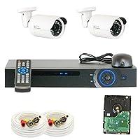 GW Security VD2CHC12 4 CH HDCVI DVR 2 x 1/2.8 Inches 2.0 MP HDCVI Security Camera, 3.6mm, 24 LEDs 49-Feet IR [並行輸入品]