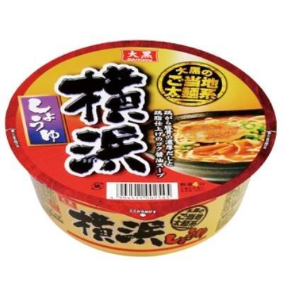 大黒食品 ご当地太麺系 横浜しょうゆ カップ 110g×24個
