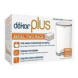 Diaper Dekor Plus Diaper Pail Liner Refills, 2 Count