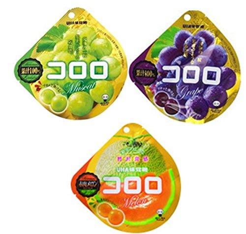 UHA 味覚糖 コロロ 3種類 各1個 3個入り