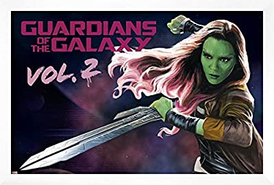 Guardians of the Galaxy : Vol。2 – Gamora ( Exclusive )印刷とフレームオプション 12x18 in ホワイト AP15124563_PC0_FI0_SV0_IN1