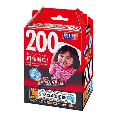 ナカバヤシ インクジェット用紙 デジカメ印画紙 強光沢 JPSK...