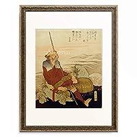 葛飾北斎 Katsushika Hokusai 「漁師図」 額装アート作品
