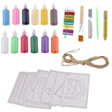 【ノーブランド 品】12色 砂絵セット アルファベット 芸術創造 子供 おもちゃ 誕生日 プレゼント