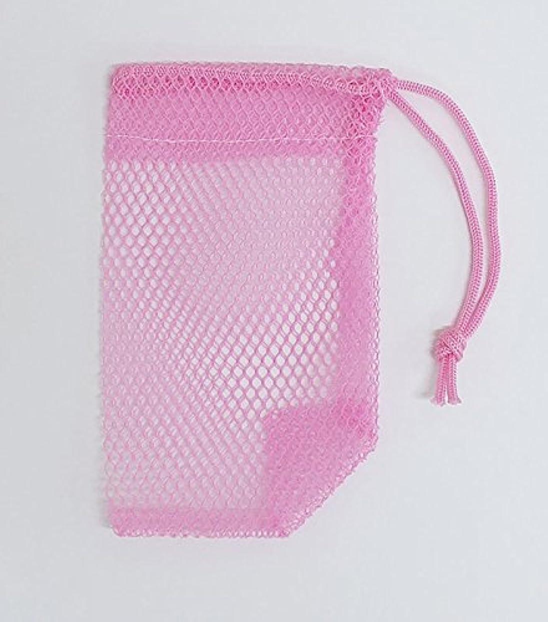 スラダム全部輸血石けんネット ひもタイプ 20枚組  ピンク