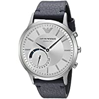 Emporio Armani Connected Hybrid Smartwatch Men's ART3003 Blue Leather