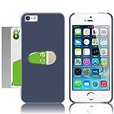 MS factory iPhone SE ケース ICカード スロットイン iPhoneSE 5S 5 カバー 電波干渉防止 シート 付き カード 収納 片手で簡単出し入れ ネイビー 紺 MS-IP5SLOTIN-NV