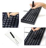 Hapurs メカニカルキーボード 引き抜けるキー 鋼線キートップ引抜工具 画像
