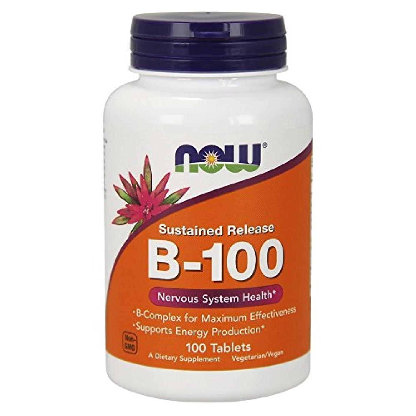 著名なペルーあさり[海外直送品] ナウフーズ ビタミンB-100(タイムリリース) 100Tabs