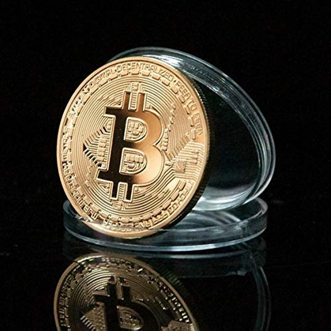 人道的繁雑同化Jicorzo - ゴールドメッキ物理Bitcoins - お土産新年のギフトのためのケースでは、各CasasciusビットコインBTCの1
