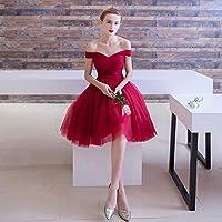 赤のショートドレス、セクシーなストラップレスのイブニングドレス/ストラップ調節可能、ウエディング/誕生日パーティー/ダンス