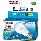 東芝 E-CORE(イー・コア) LED電球 ミニクリプトン形 4.3W (密閉器具対応・フィンレス構造・E17口金・小形電球25W相当・320ルーメン・昼白色) LDA4N-E17