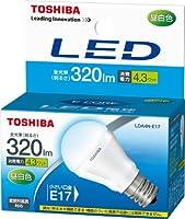 東芝 E-CORE(イー・コア) LED電球 ミニクリプトン形 4.3W (密閉器具対応・フィンレス構造・口金直径17mm・小形電球25W相当・320ルーメン・昼白色) LDA4N-E17