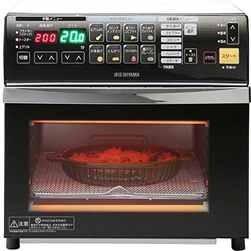 アイリスオーヤマ リクック 熱風 オーブン トースター 自動調理 ホワイト FVX-M3A-W