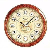 エレガントなミニマリストの時計、ラウンジの家の目覚まし時計近代的なオフィスと静かな、クォーツ時計創造的な18インチの壁時計、H
