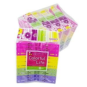 セキデン 『針金ハンガーに便利な洗濯ばさみ』 セキデンピンチ 20個付×6袋セット 内側のくぼみで針金を挟める SEKIDEN Colorful Life PR-J4-6