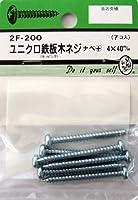 ビーバーハードウェア 鉄板木ネジ 十字穴付 ナベ頭 ユニクロ 4×40mm 7本入り 2F200