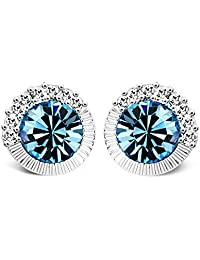 T400Jewelers Blue Crystals Earrings for Women Mother's Day Gifts