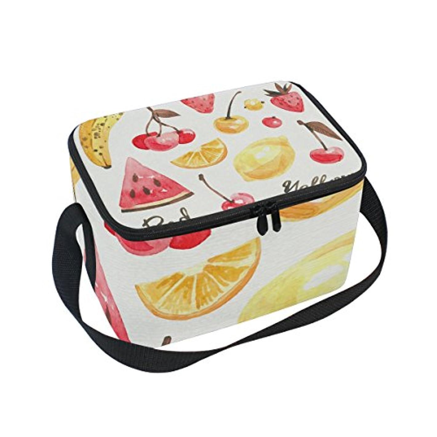 レモンアウトドア酸化するクーラーバッグ クーラーボックス ソフトクーラ 冷蔵ボックス キャンプ用品 フルーツ柄 赤と黄 保冷保温 大容量 肩掛け お花見 アウトドア