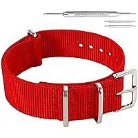 Colorful Classic Fashion NATO style Ballistic Nylon Watch Band Strap Replacement for Men Women