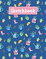Sketchbook: 8.5 x 11 Notebook for Creative Drawing and Sketching Activities with Spring Themed Cover Design