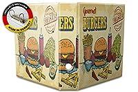 バインダー 2 Ring Binder Lever Arch Folder A4 printed Gourmet Burgers