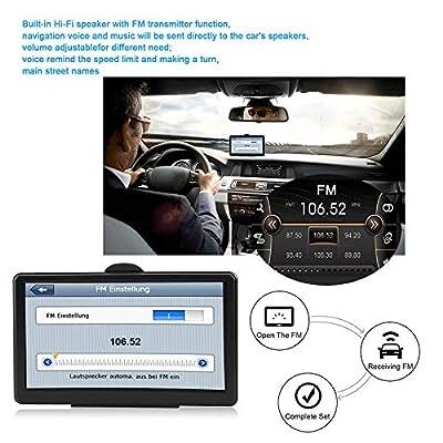 "Goalftek 7"" Touchscreen Car GPS Navigation System 8G Voice Prompt Driving Alarm Navigation System"