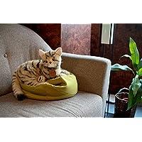 グレイスフル ネコ (日本製) キジトラ 横座り ぬいぐるみ  全長31cm