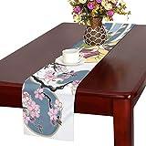 LKCDNG テーブルランナー きれい 和風の歌舞伎 クロス 食卓カバー 麻綿製 欧米 おしゃれ 16 Inch X 72 Inch (40cm X 182cm) キッチン ダイニング ホーム デコレーション モダン リビング 洗える