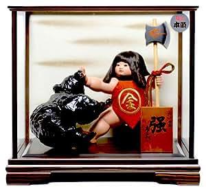 【武者人形】金太郎 強 : 寿喜代作【五月人形】【ご進物ケース】
