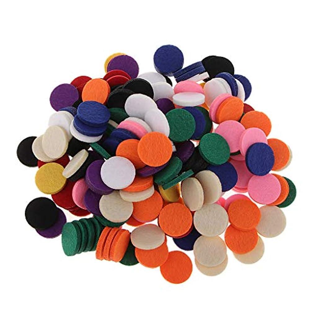 慰め代数的傑出したアロマオイルパッド アロマパッド 詰め替えパッド チェアマット 高い吸収性 香水 全11色 約200個入り - 混在