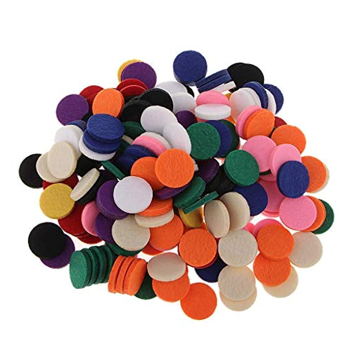 情熱期限以上Perfeclan アロマオイルパッド アロマパッド 詰め替えパッド チェアマット 高い吸収性 香水 全11色 約200個入り - 混在