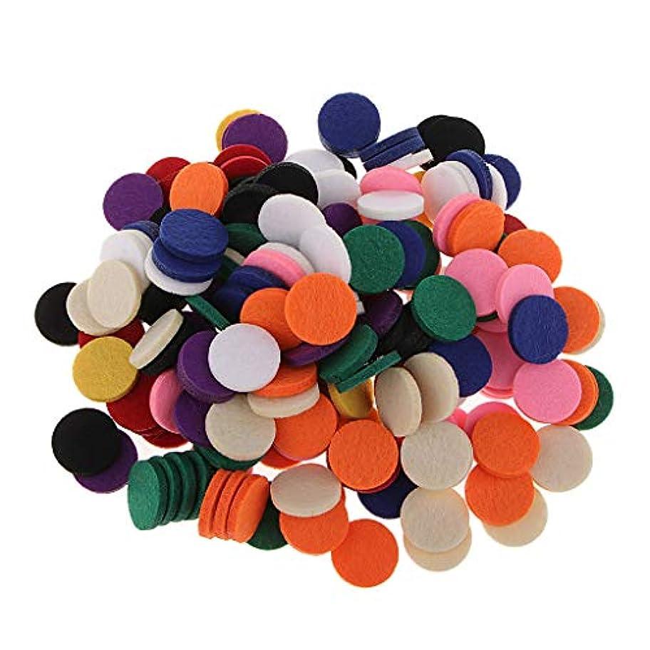 大使スプリット少しPerfeclan アロマオイルパッド アロマパッド 詰め替えパッド チェアマット 高い吸収性 香水 全11色 約200個入り - 混在